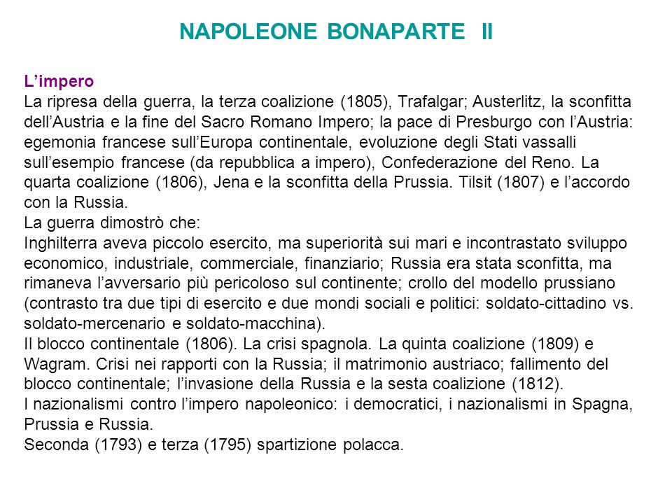 NAPOLEONE BONAPARTE II