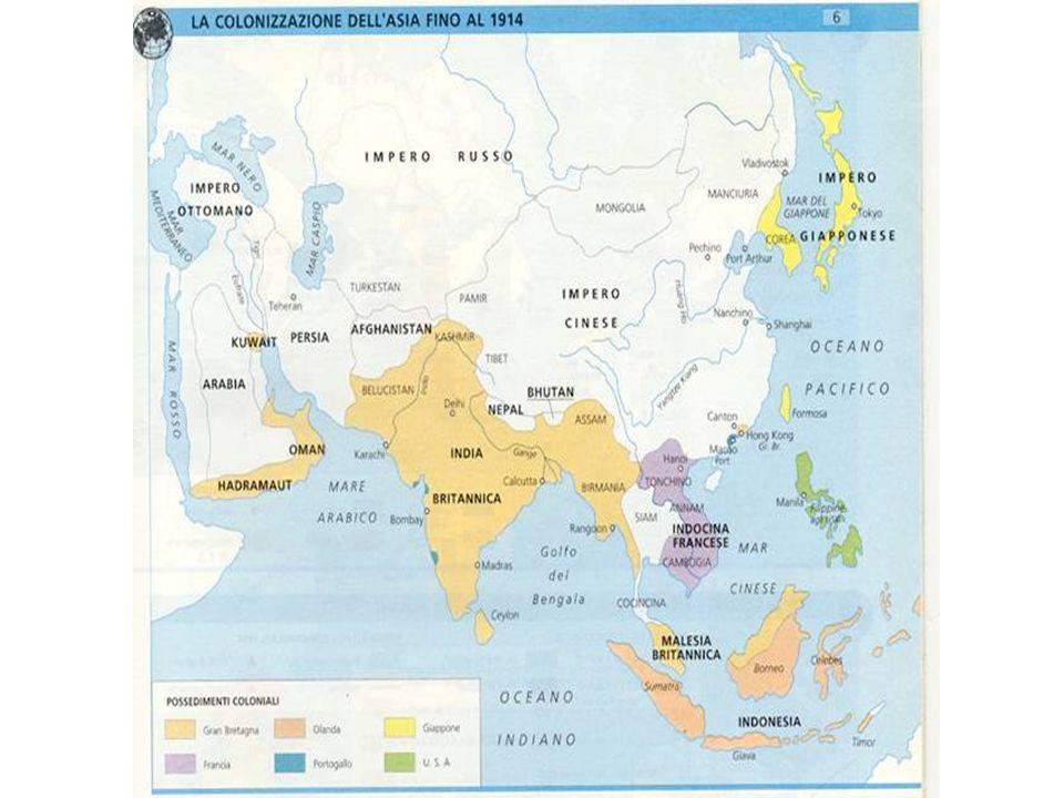 La colonizzazione in Asia 1914