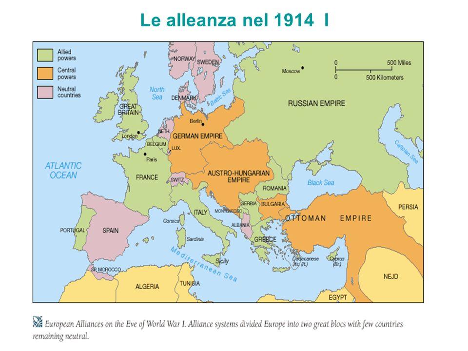 Le alleanza nel 1914 I