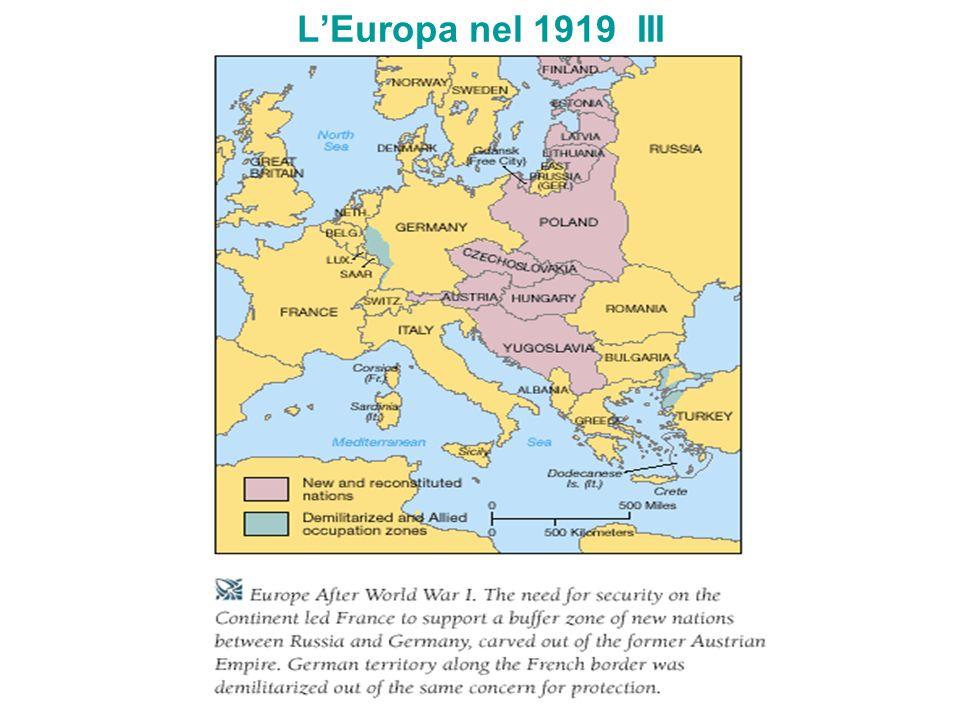 L'Europa nel 1919 III
