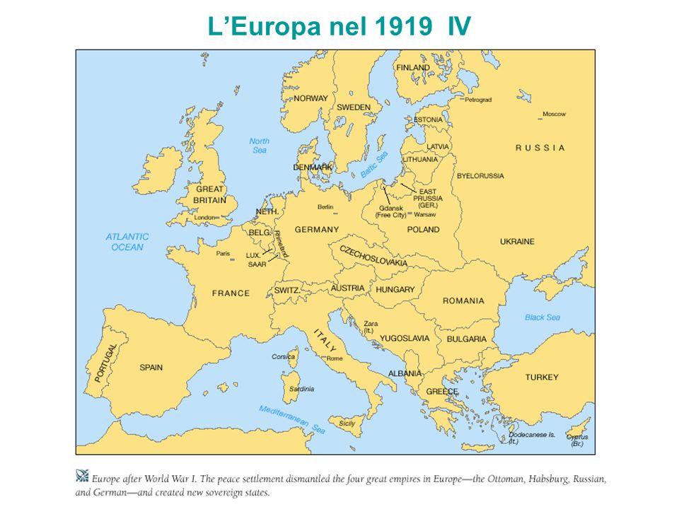 L'Europa nel 1919 IV