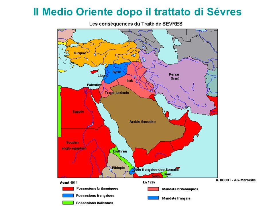 Il Medio Oriente dopo il trattato di Sévres