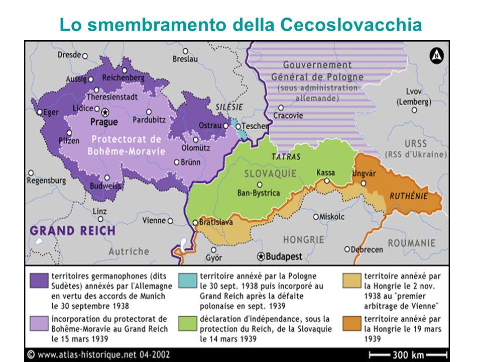 Lo smembramento della Cecoslovacchia