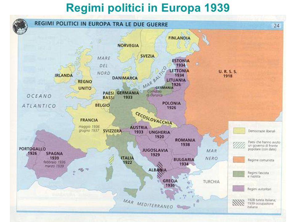 Regimi politici in Europa 1939