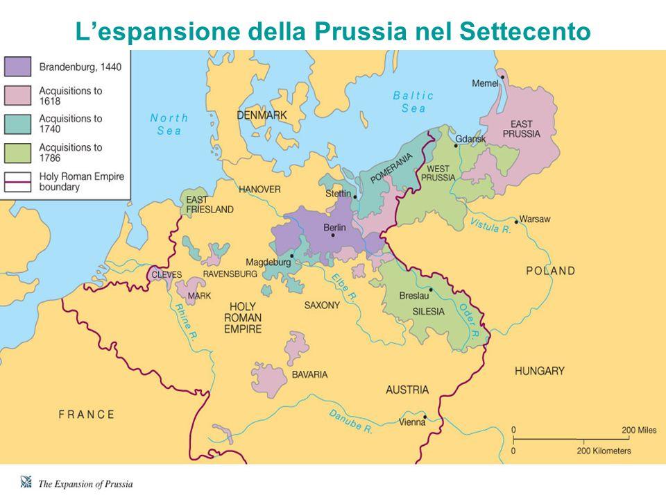 L'espansione della Prussia nel Settecento