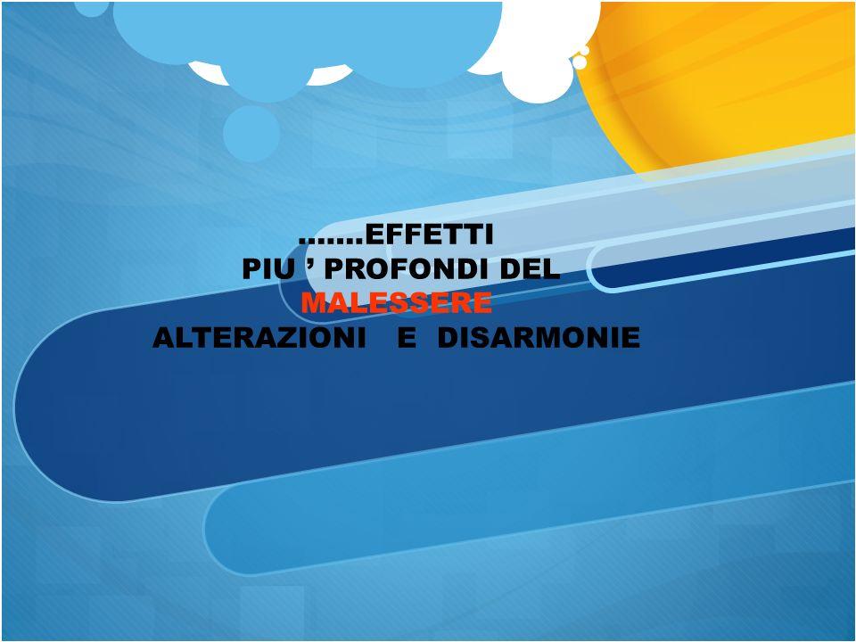 PIU ' PROFONDI DEL MALESSERE