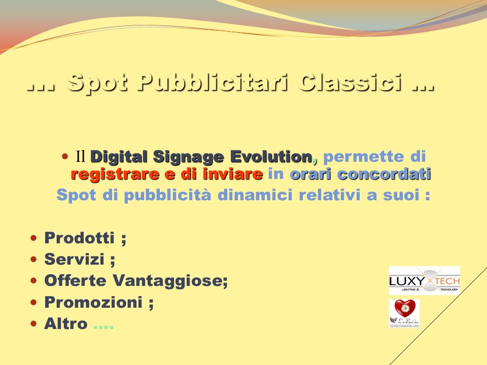 … Spot Pubblicitari Classici …