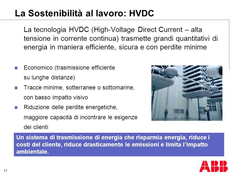 La Sostenibilità al lavoro: HVDC