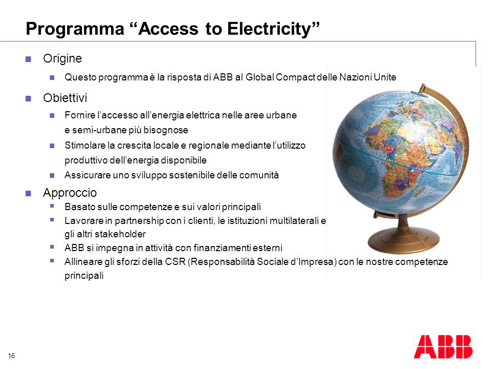 Programma Access to Electricity