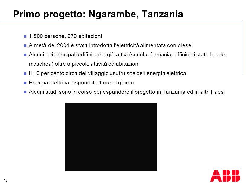 Primo progetto: Ngarambe, Tanzania