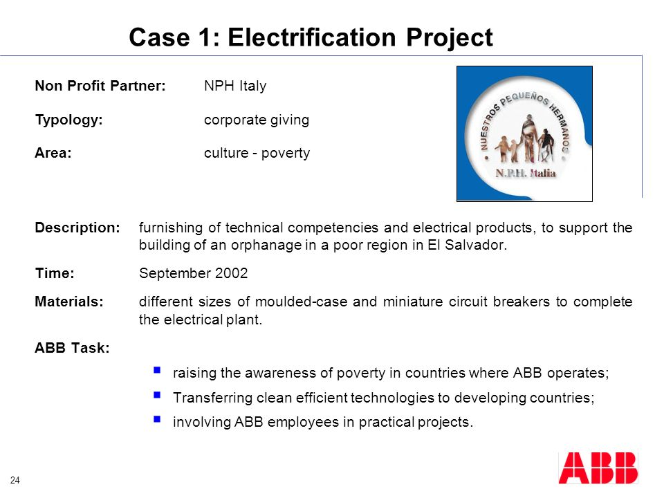 Case 1: Electrification Project