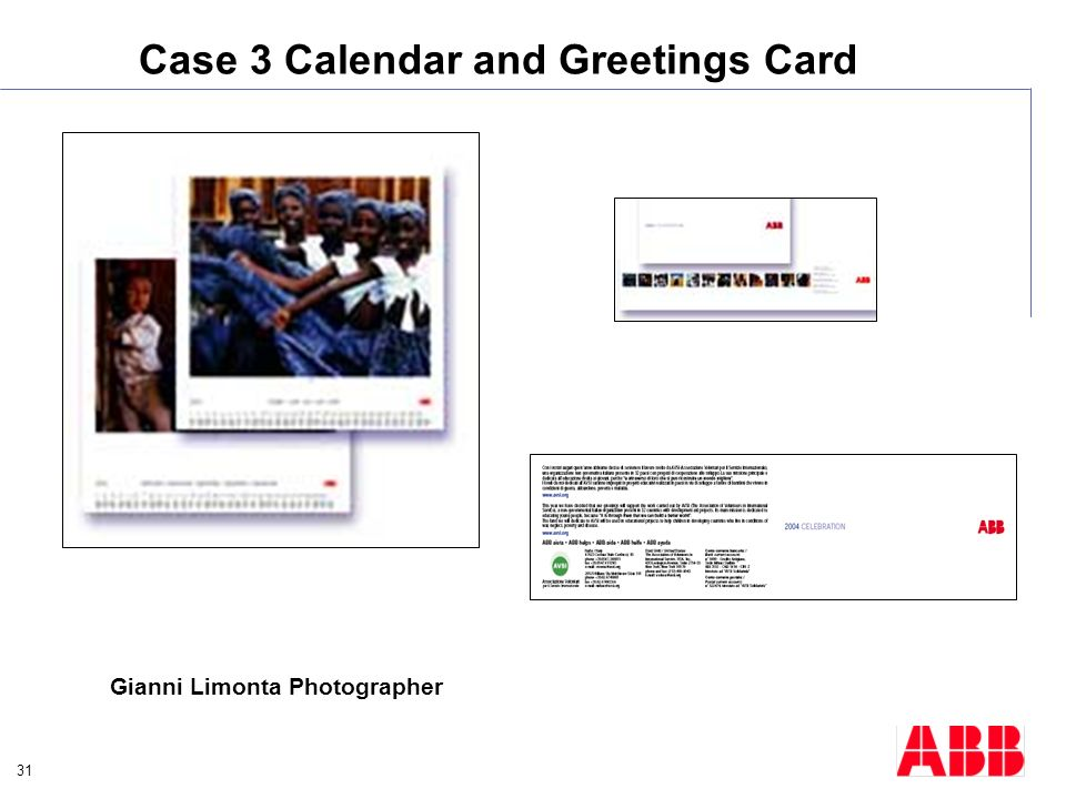 Case 3 Calendar and Greetings Card