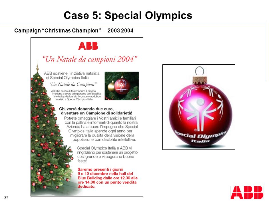 Case 5: Special Olympics