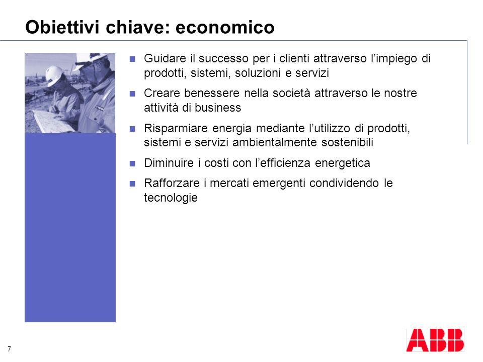 Obiettivi chiave: economico