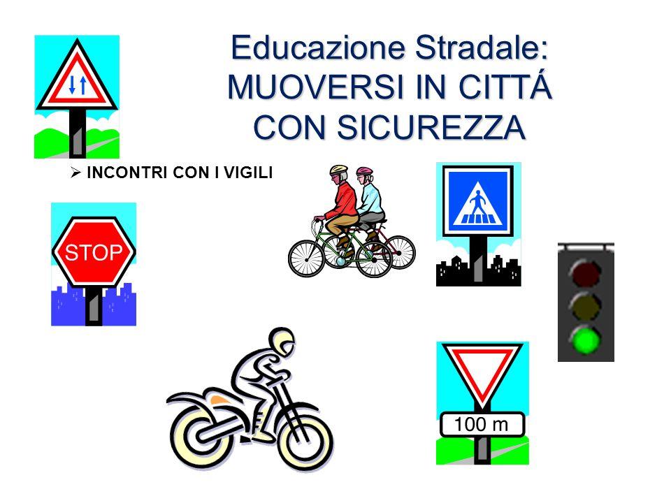Educazione Stradale: MUOVERSI IN CITTÁ CON SICUREZZA