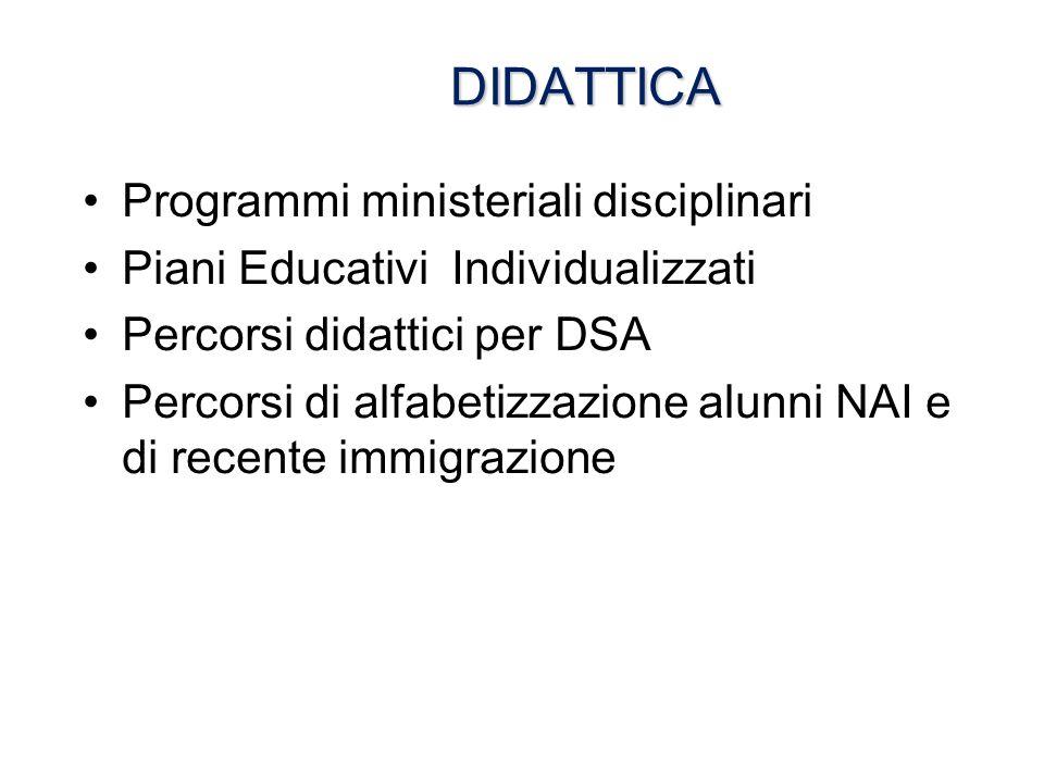 DIDATTICA Programmi ministeriali disciplinari
