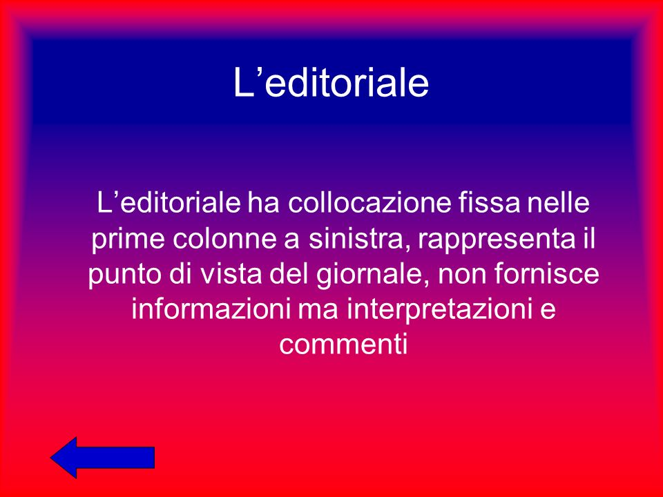 L'editoriale