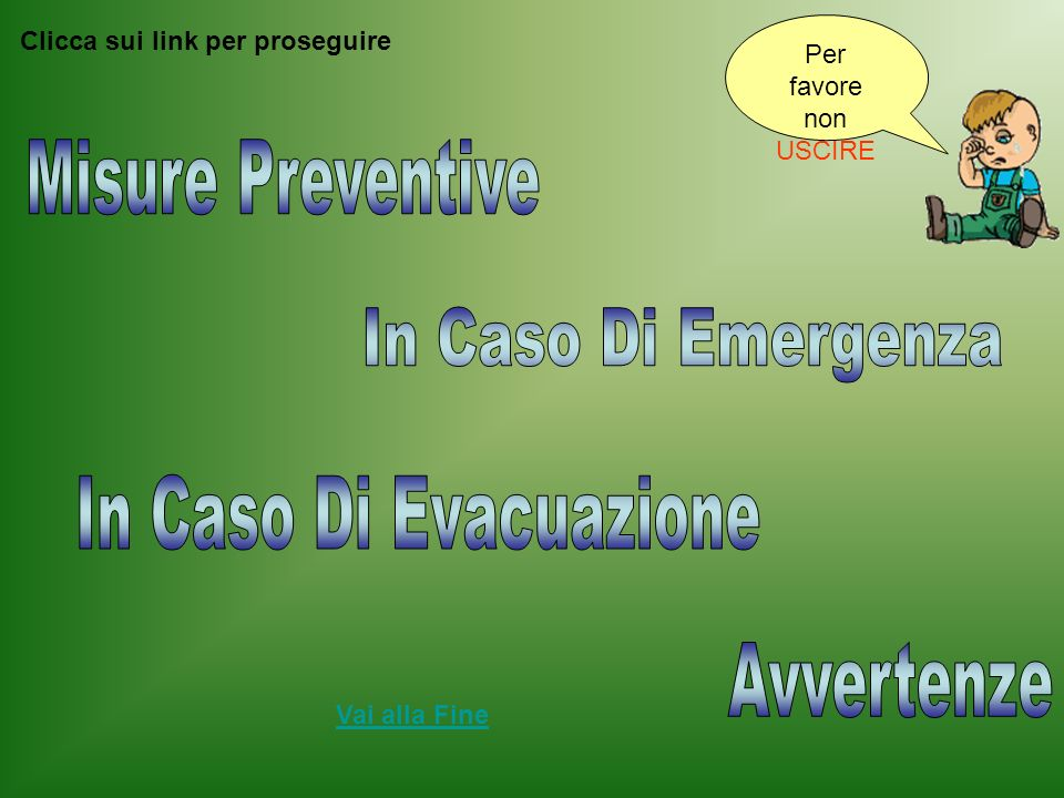 Misure Preventive In Caso Di Emergenza In Caso Di Evacuazione