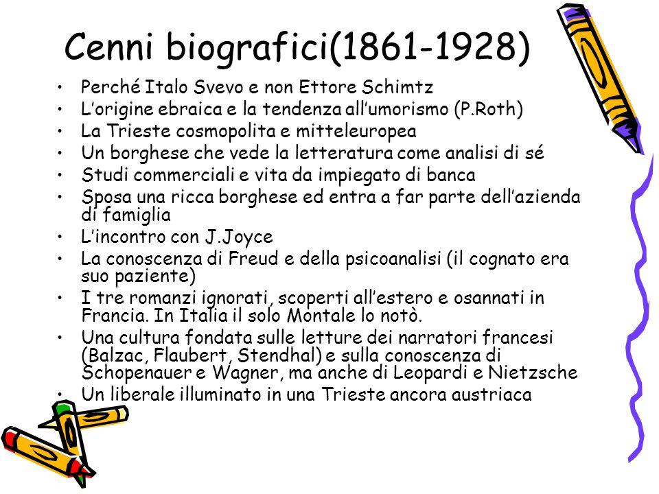 Cenni biografici(1861-1928) Perché Italo Svevo e non Ettore Schimtz