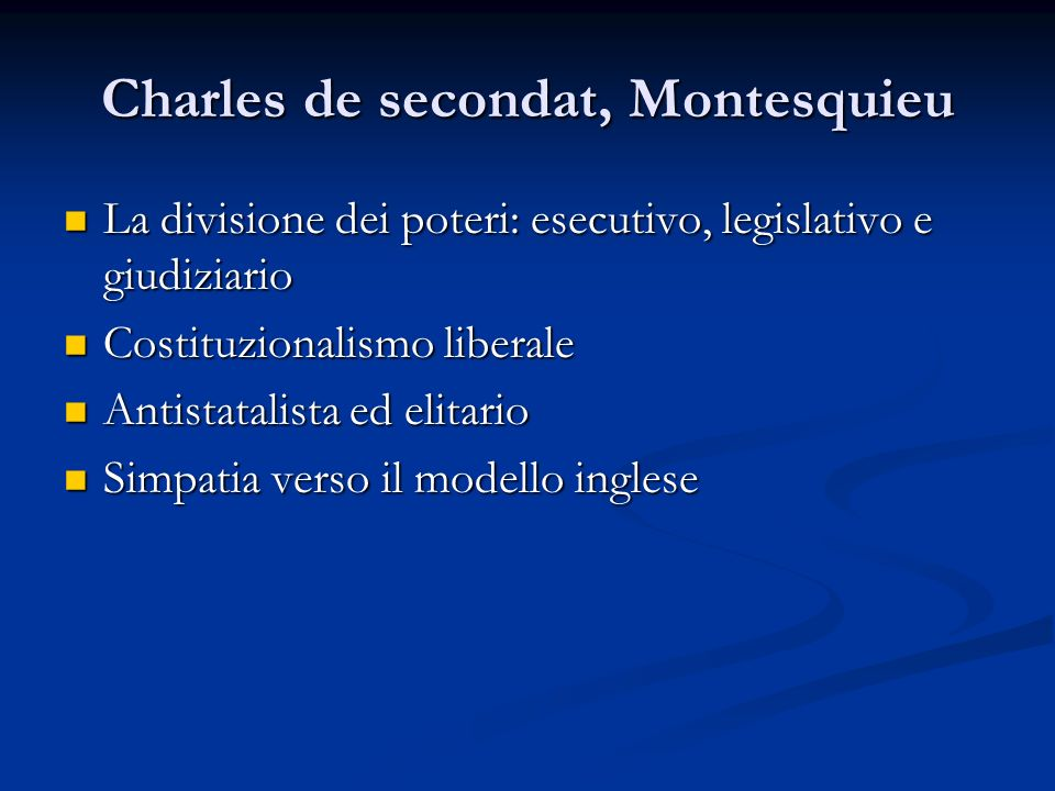 Charles de secondat, Montesquieu