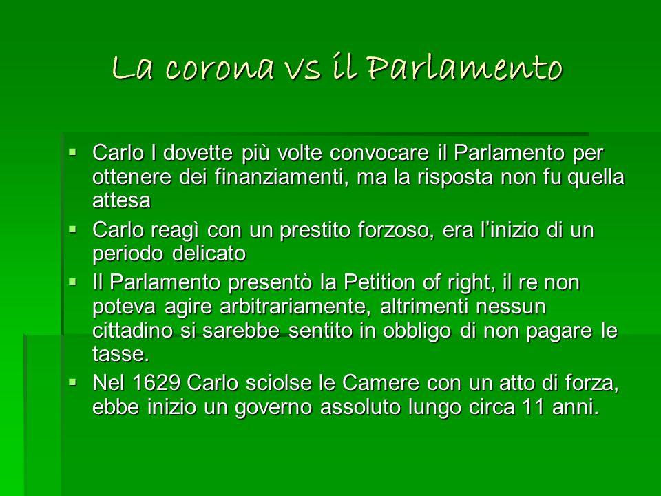 La corona vs il Parlamento