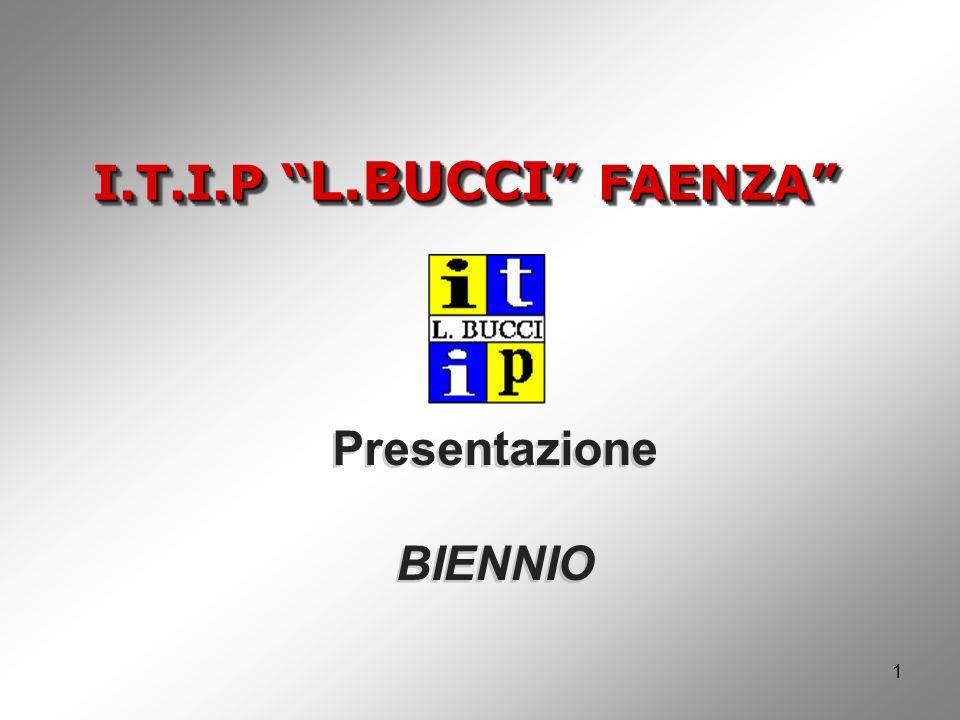 I.T.I.P L.BUCCI FAENZA Presentazione BIENNIO