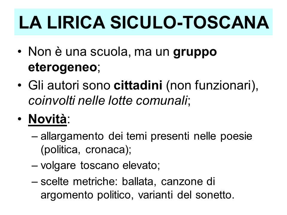 LA LIRICA SICULO-TOSCANA