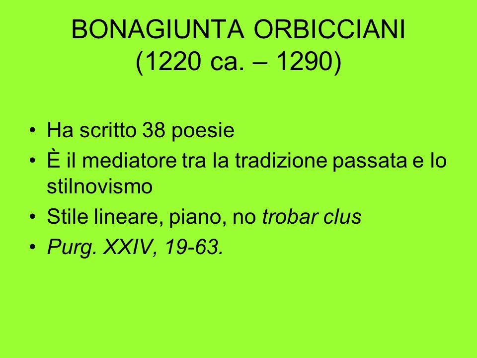 BONAGIUNTA ORBICCIANI (1220 ca. – 1290)