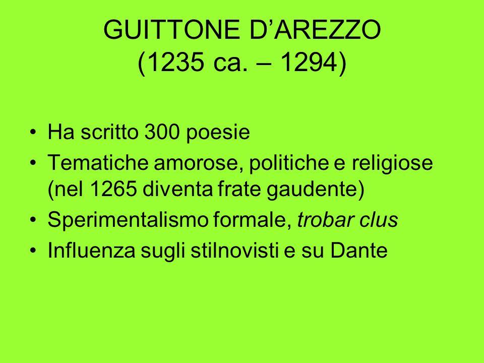 GUITTONE D'AREZZO (1235 ca. – 1294)