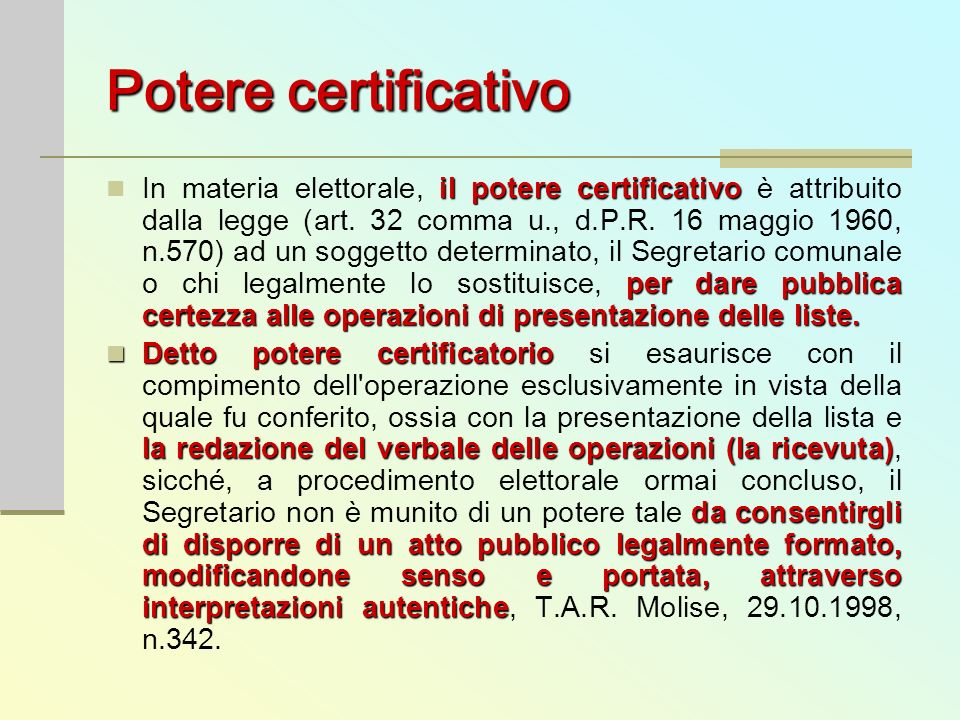 Potere certificativo