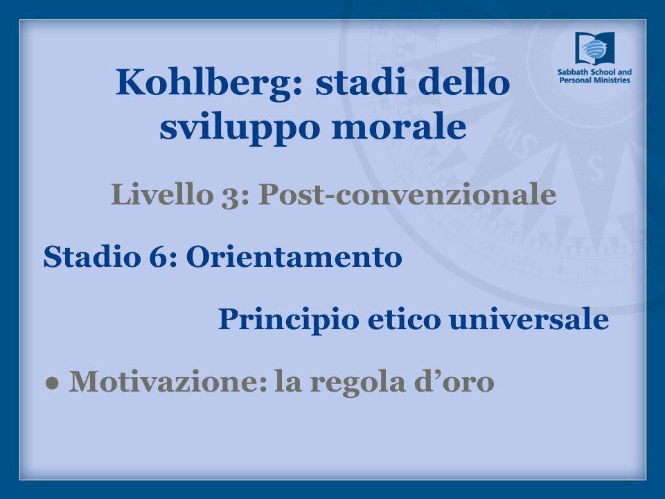 Kohlberg: stadi dello sviluppo morale Livello 3: Post-convenzionale