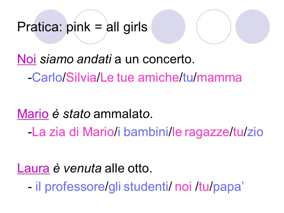 Pratica: pink = all girls