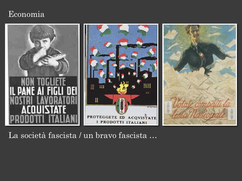 Economia La società fascista / un bravo fascista …