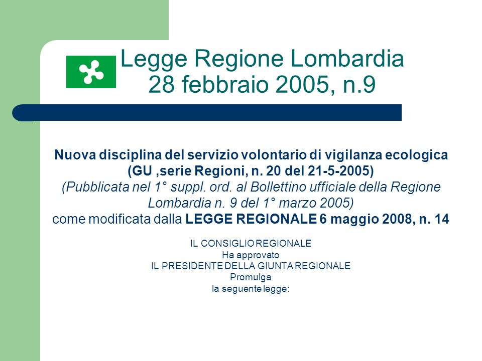 Legge Regione Lombardia 28 febbraio 2005, n.9