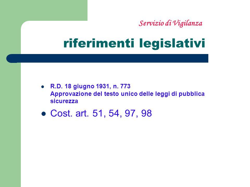 riferimenti legislativi