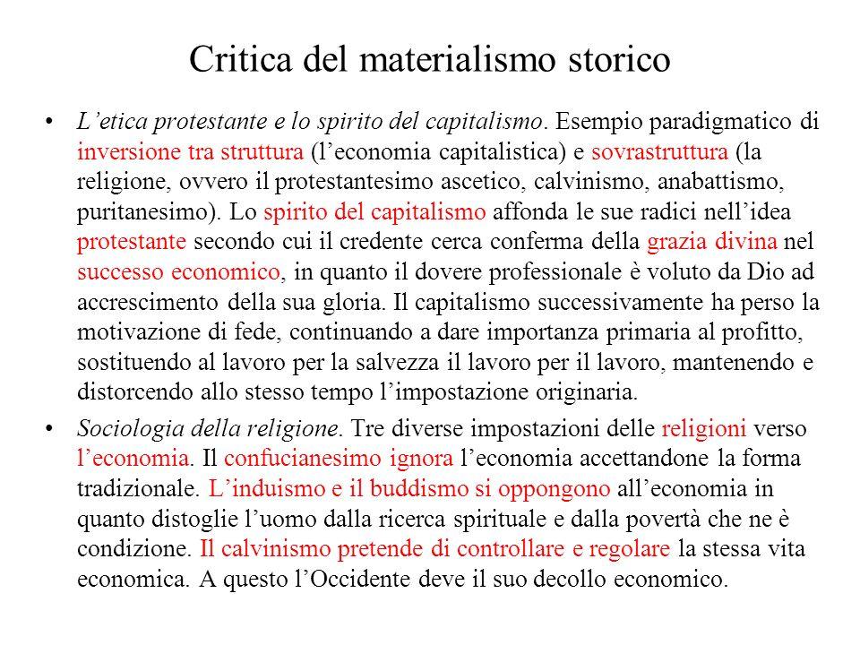 Critica del materialismo storico