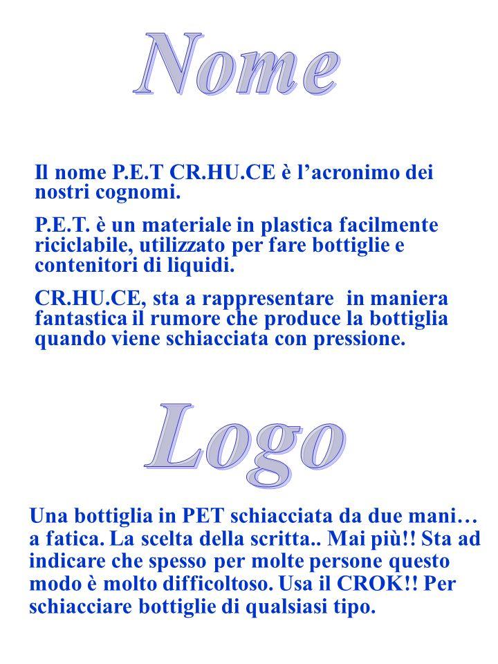 Nome Logo Il nome P.E.T CR.HU.CE è l'acronimo dei nostri cognomi.