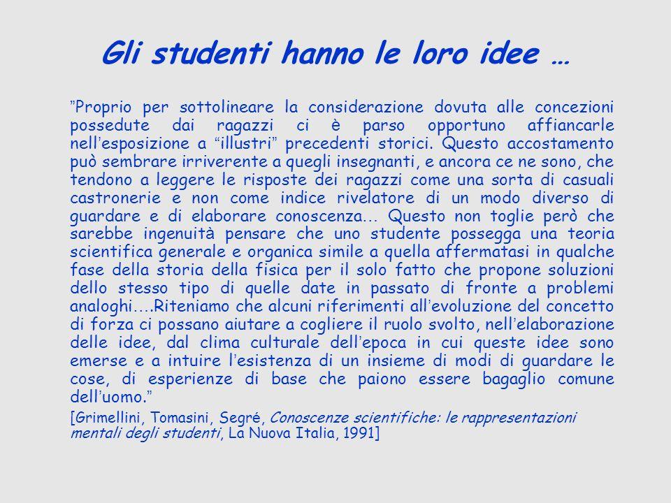 Gli studenti hanno le loro idee …