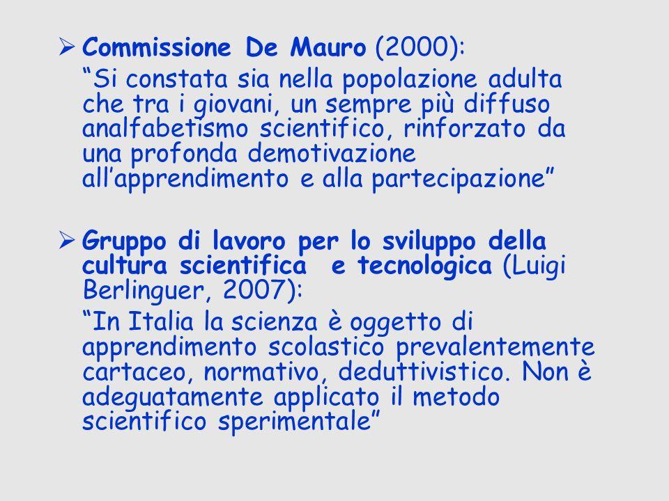 Commissione De Mauro (2000):