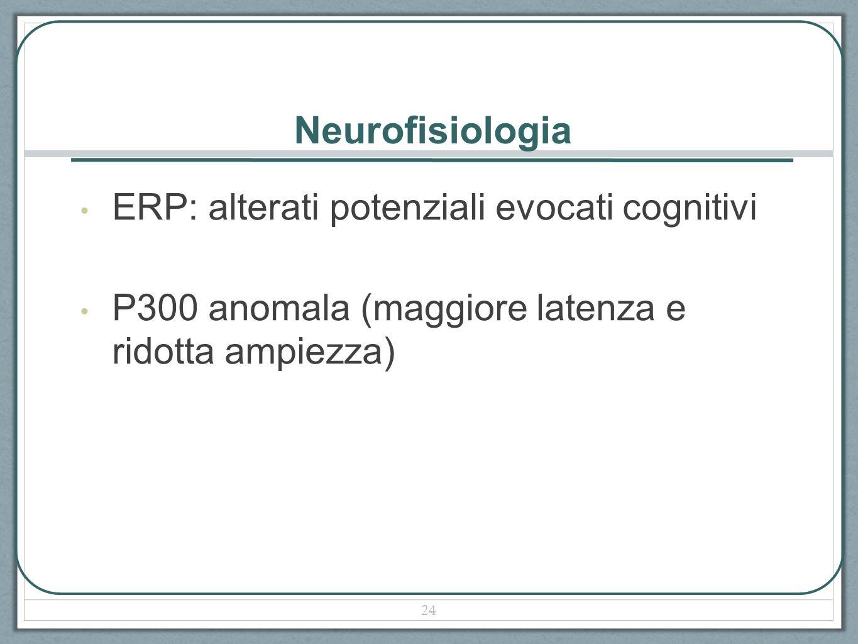 Neurofisiologia ERP: alterati potenziali evocati cognitivi