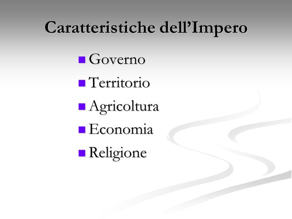 Caratteristiche dell'Impero