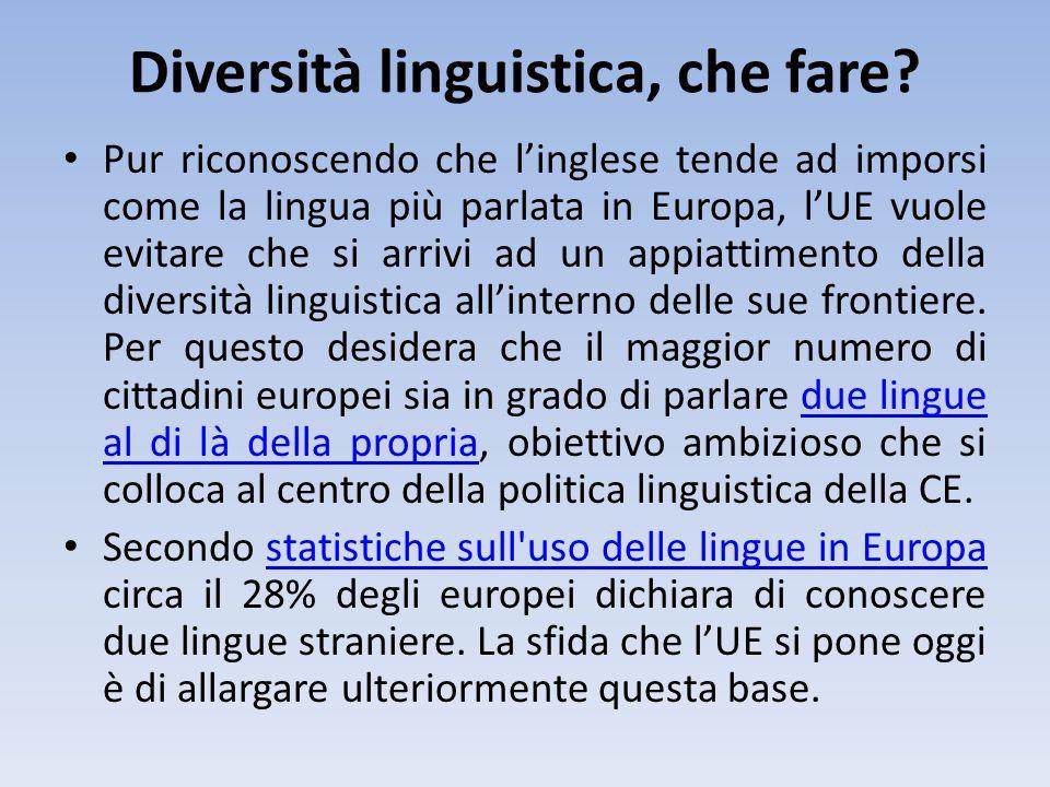 Diversità linguistica, che fare