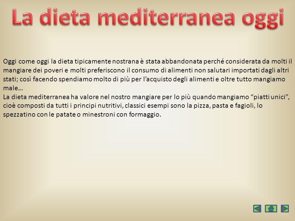La dieta mediterranea oggi
