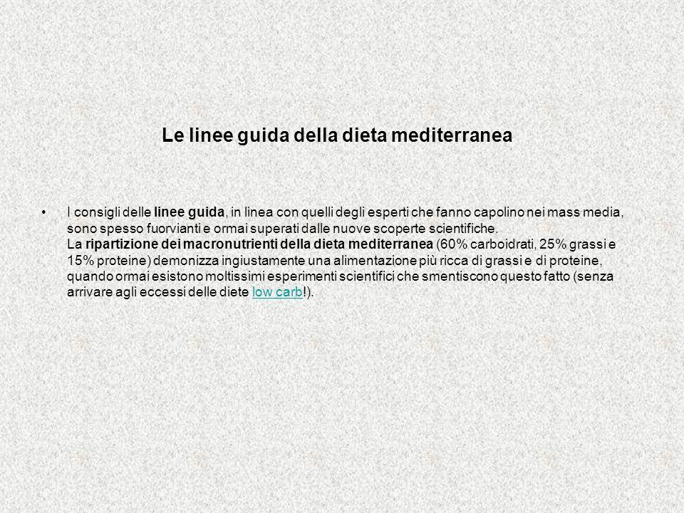 Le linee guida della dieta mediterranea