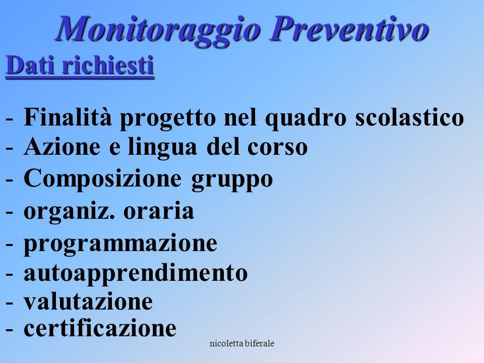 Monitoraggio Preventivo