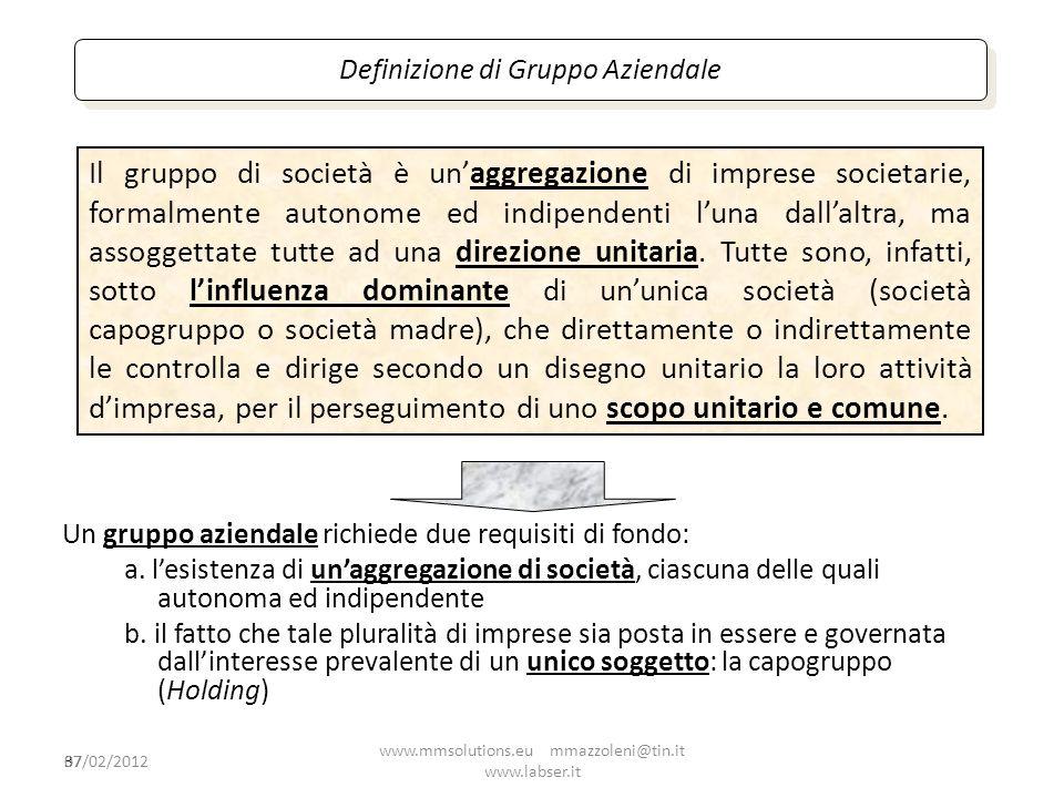 Definizione di Gruppo Aziendale