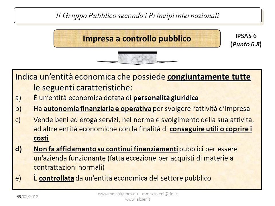 Impresa a controllo pubblico