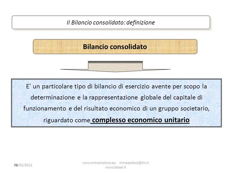 Il Bilancio consolidato: definizione