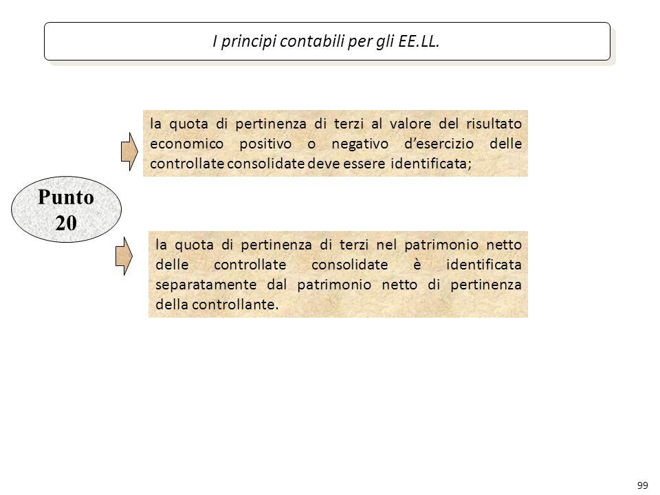 I principi contabili per gli EE.LL.