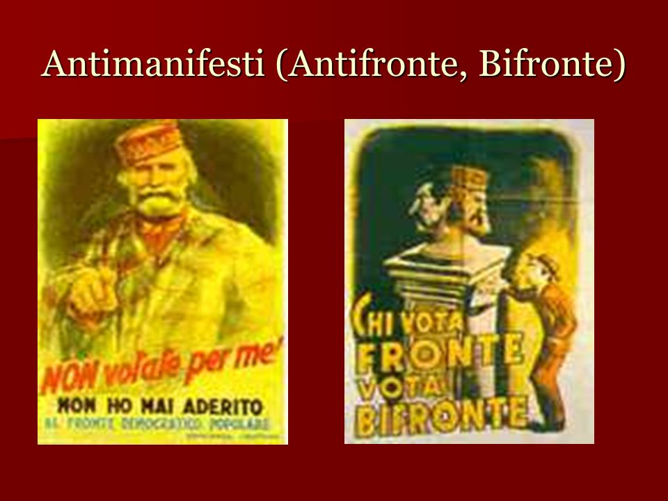 Antimanifesti (Antifronte, Bifronte)